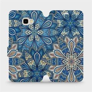 Flipové pouzdro Mobiwear na mobil Samsung Galaxy J4 Plus 2018 - V108P Modré mandala květy