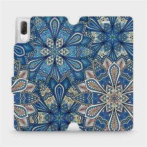 Flipové pouzdro Mobiwear na mobil Sony Xperia L3 - V108P Modré mandala květy