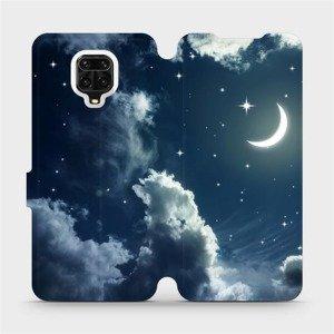 Flipové pouzdro Mobiwear na mobil Xiaomi Redmi Note 9 Pro - V145P Noční obloha s měsícem