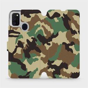 Flipové pouzdro Mobiwear na mobil Samsung Galaxy M21 - V111P Maskáče