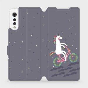 Flipové pouzdro Mobiwear na mobil LG Velvet - V024P Jednorožec na kole