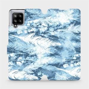 Flipové pouzdro Mobiwear na mobil Samsung Galaxy A42 5G - M058S Světle modrá horizontální pírka