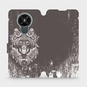 Flipové pouzdro Mobiwear na mobil Nokia 3.4 - V064P Vlk a lapač snů