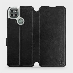 Flipové pouzdro Mobiwear na mobil Motorola Moto G9 Power v provedení C_BLS Black&Gray s šedým vnitřkem