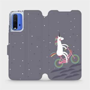 Flipové pouzdro Mobiwear na mobil Xiaomi Redmi 9T - V024P Jednorožec na kole