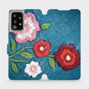 Flipové pouzdro Mobiwear na mobil Samsung Galaxy A52 5G / LTE - MD05P Džínové květy