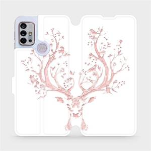 Flipové pouzdro Mobiwear na mobil Motorola Moto G10 - M007S Růžový jelínek