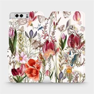 Flip pouzdro Mobiwear na mobil Huawei P10 - MP01S Rozkvetlá louka