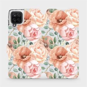 Flip pouzdro Mobiwear na mobil Samsung Galaxy A12 - MP02S Pastelové květy