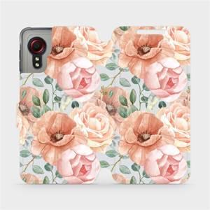 Flip pouzdro Mobiwear na mobil Samsung Galaxy Xcover 5 - MP02S Pastelové květy
