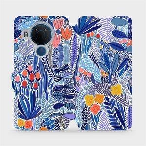 Flip pouzdro Mobiwear na mobil Nokia 5.4 - MP03P Modrá květena