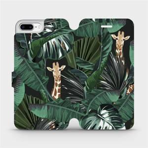 Flip pouzdro Mobiwear na mobil Apple iPhone 7 Plus - VP06P Žirafky