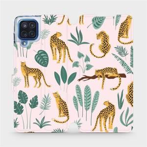 Flip pouzdro Mobiwear na mobil Samsung Galaxy M12 - MP07S Leopardi