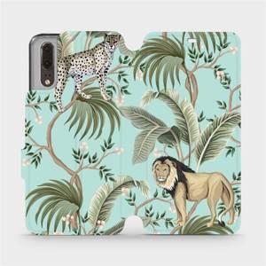 Flip pouzdro Mobiwear na mobil Huawei P20 - MP08S Dvě kočičky