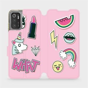 Flip pouzdro Mobiwear na mobil Xiaomi Poco M3 Pro 5G - M129S Růžové WHAT