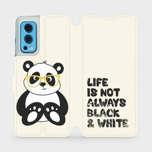 Flip pouzdro Mobiwear na mobil OnePlus Nord 2 5G - M041S Panda - life is not always black and white
