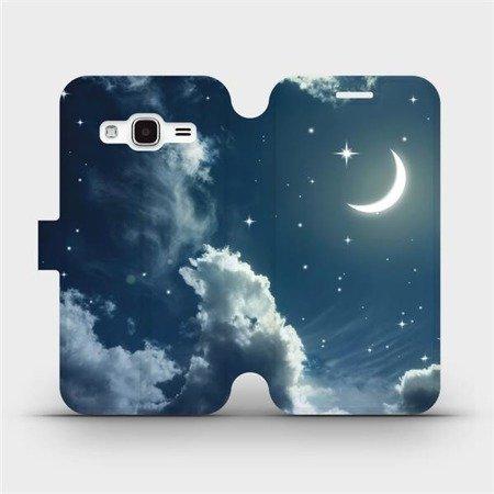 Flipové pouzdro Mobiwear na mobil Samsung Galaxy J3 2016 - V145P Noční obloha s měsícem