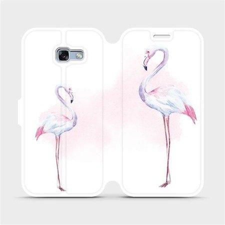 Flipové pouzdro Mobiwear na mobil Samsung Galaxy A3 2017 - M005S Plameňáci
