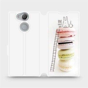 Flipové pouzdro Mobiwear na mobil Sony Xperia XA2 - M090P Makronky - have a nice day