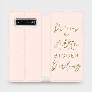 Parádní flip pouzdro Mobiwear na mobil Samsung Galaxy S10 - M014S Dream a little