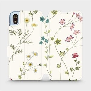 Flipové pouzdro Mobiwear na mobil Xiaomi Redmi 7A - MD03S Tenké rostlinky s květy