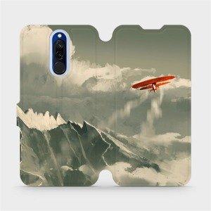 Flipové pouzdro Mobiwear na mobil Xiaomi Redmi 8 - MA03P Oranžové letadlo v horách