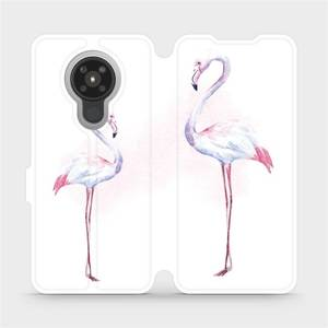 Flipové pouzdro Mobiwear na mobil Nokia 5.3 - M005S Plameňáci