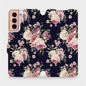 Flipové pouzdro Mobiwear na mobil Samsung Galaxy S21 5G - V068P Růžičky