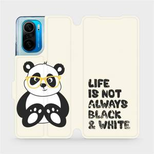 Flipové pouzdro Mobiwear na mobil Xiaomi Mi 11i / Xiaomi Poco F3 - M041S Panda - life is not always black and white