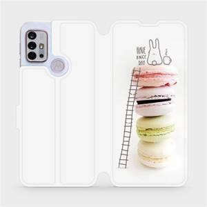 Flipové pouzdro Mobiwear na mobil Motorola Moto G10 - M090P Makronky - have a nice day