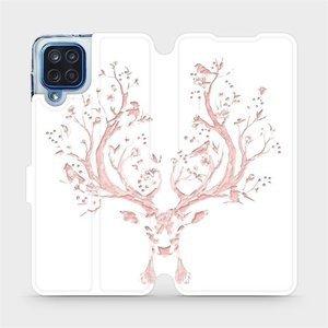 Flipové pouzdro Mobiwear na mobil Samsung Galaxy M12 - M007S Růžový jelínek