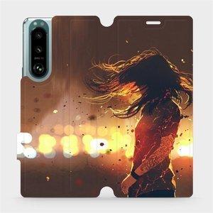 Flip pouzdro Mobiwear na mobil Sony Xperia 5 III - MA02S Tetovaná dívka