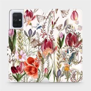 Flip pouzdro Mobiwear na mobil Samsung Galaxy A71 - MP01S Rozkvetlá louka