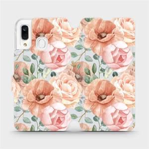 Flip pouzdro Mobiwear na mobil Samsung Galaxy A40 - MP02S Pastelové květy