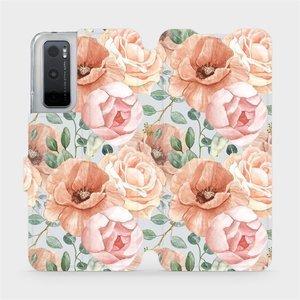 Flip pouzdro Mobiwear na mobil Vivo Y70 - MP02S Pastelové květy