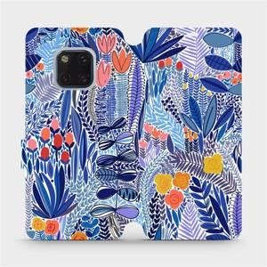 Flip pouzdro Mobiwear na mobil Huawei Mate 20 Pro - MP03P Modrá květena