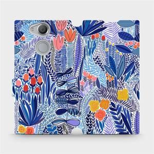 Flip pouzdro Mobiwear na mobil Sony Xperia XA2 - MP03P Modrá květena