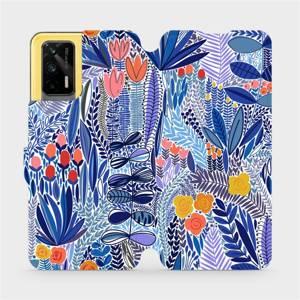 Flip pouzdro Mobiwear na mobil Realme GT 5G - MP03P Modrá květena