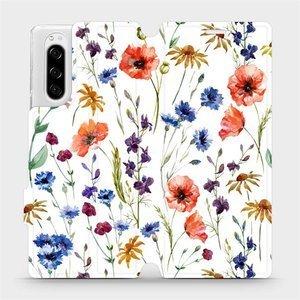 Flip pouzdro Mobiwear na mobil Sony Xperia 5 - MP04S Luční kvítí