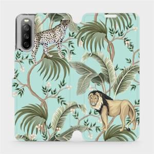 Flip pouzdro Mobiwear na mobil Sony Xperia 10 III - MP08S Dvě kočičky