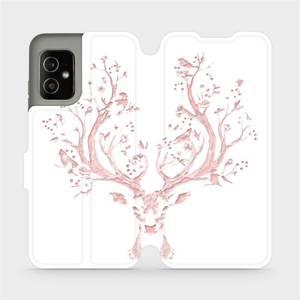 Flip pouzdro Mobiwear na mobil Asus Zenfone 8 - M007S Růžový jelínek