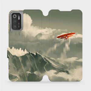 Flip pouzdro Mobiwear na mobil Xiaomi Poco M3 Pro 5G - MA03P Oranžové letadlo v horách