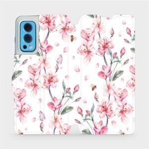 Flip pouzdro Mobiwear na mobil OnePlus Nord 2 5G - M124S Růžové květy