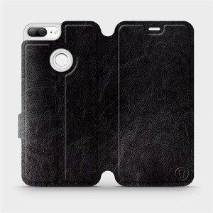 Flipové pouzdro Mobiwear na mobil Honor 9 Lite v provedení C_BLS Black&Gray s šedým vnitřkem