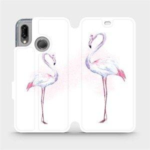 Flipové pouzdro Mobiwear na mobil Huawei P20 Lite - M005S Plameňáci