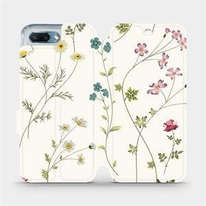 Flipové pouzdro Mobiwear na mobil Honor 10 - MD03S Tenké rostlinky s květy