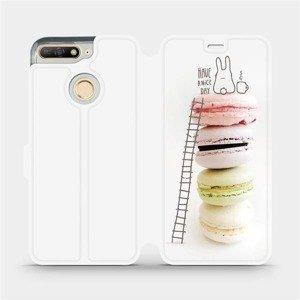 Flipové pouzdro Mobiwear na mobil Huawei Y6 Prime 2018 - M090P Makronky - have a nice day