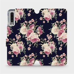 Flipové pouzdro Mobiwear na mobil Samsung Galaxy A7 2018 - V068P Růžičky