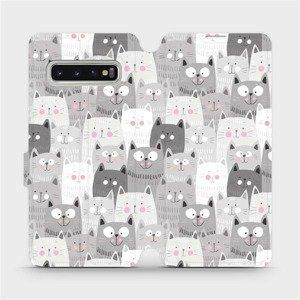 Flipové pouzdro Mobiwear na mobil Samsung Galaxy S10 - M099P Kočičky
