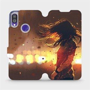 Flipové pouzdro Mobiwear na mobil Xiaomi Redmi Note 7 - MA02S Tetovaná dívka